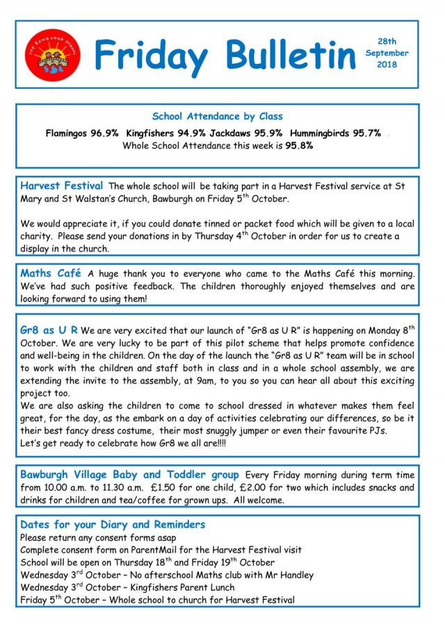 thumbnail of Friday Bulletin 28.09.18