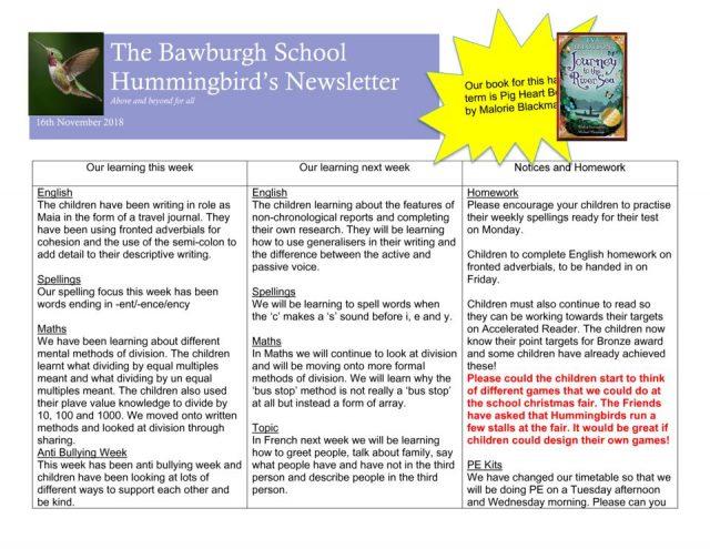 thumbnail of News letter Nov 16th