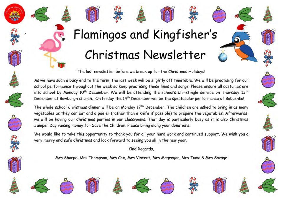 thumbnail of Christmas Newsletter