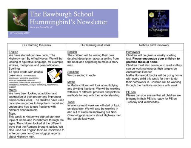 thumbnail of News letter Jan 11th