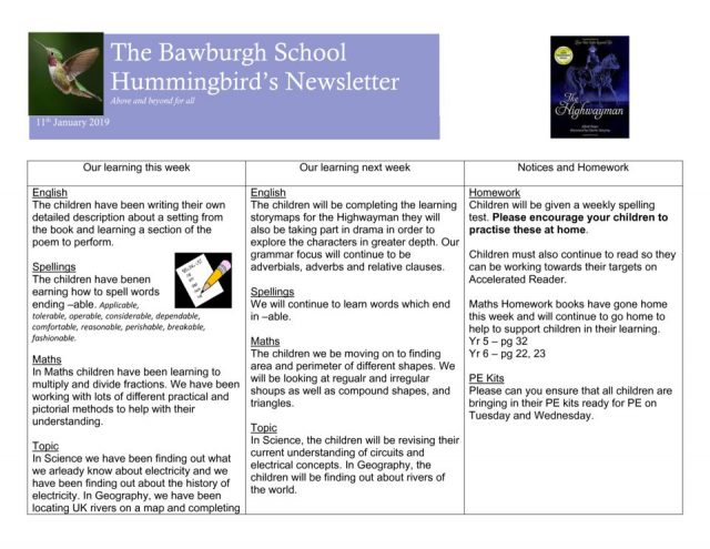 thumbnail of News letter Jan 18th