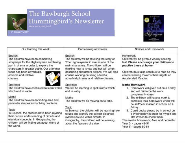 thumbnail of News letter Jan 25th
