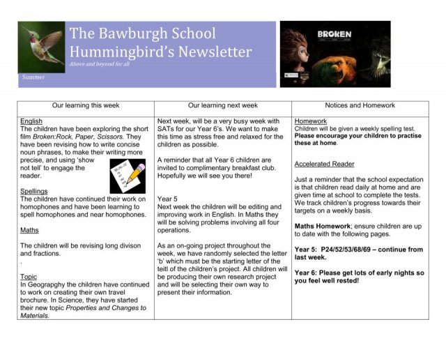 thumbnail of News letter 9th May