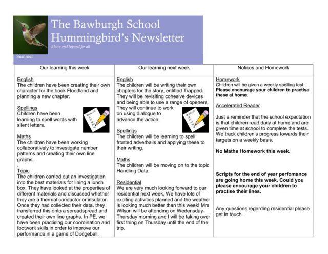 thumbnail of News letter 14th June