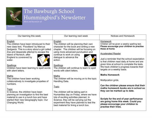 thumbnail of News letter 7th june